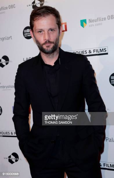 French actor Nicolas Duvauchelle poses as he arrives to attend the 25emes Trophees du Film Français awards ceremony at The Palais Brongniart in Paris...