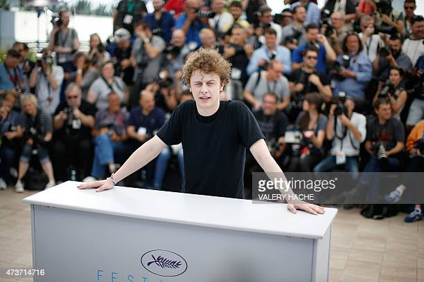 """French actor Norman Thavaud poses during a photocall for the film """"Mon Roi"""" at the 68th Cannes Film Festival in Cannes, southeastern France, on May..."""