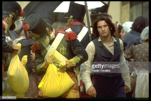 French actor Olivier Martinez on the set of Le Hussard sur le Toit written and directed by JeanPaul Rappeneau