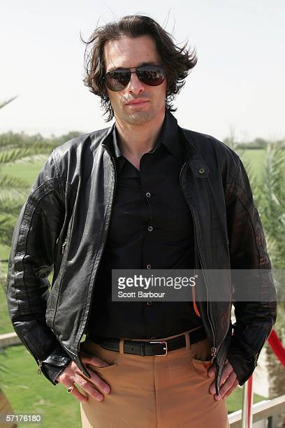 af8b83544f7 French actor Olivier Martinez poses for photographers during the inaugural  Cartier International Dubai Polo Challenge at