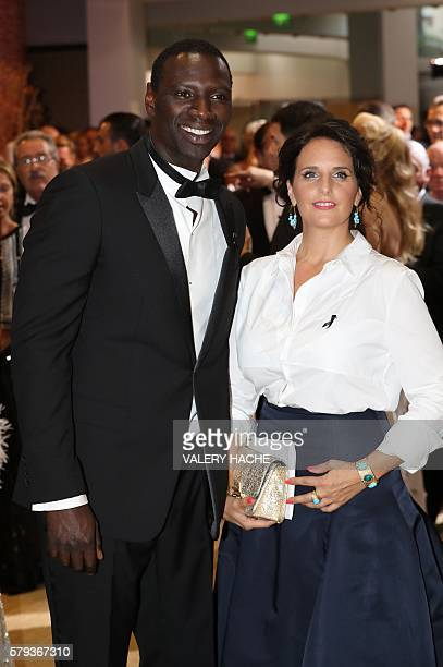 French actor Omar Sy and his wife Helene attend the 68th annual Red Cross Gala on July 23 in Monaco Created in 1948 the gala is an annual charity...