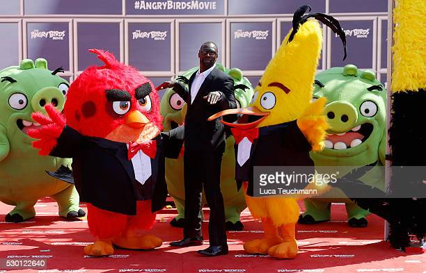 French actor Omar Sy attends The Angry Birds Movie Photocall during the annual 69th Cannes Film Festival at JW Marriott on May 10 2016 in Cannes...