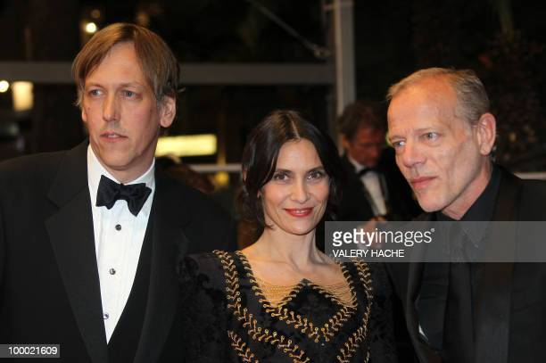 French actor Pascal Greggory US director Lodge Kerrigan and French actress Geraldine Pailhas arrive for the screening of 'Rebecca H ' presented in...