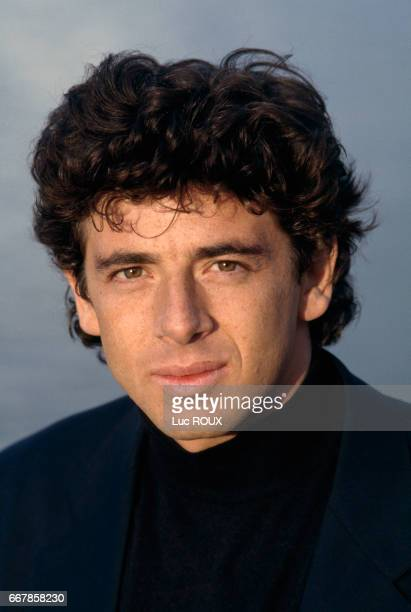 French actor Patrick Bruel on the set of the film Toutes Peines Confondues directed by Michel Deville