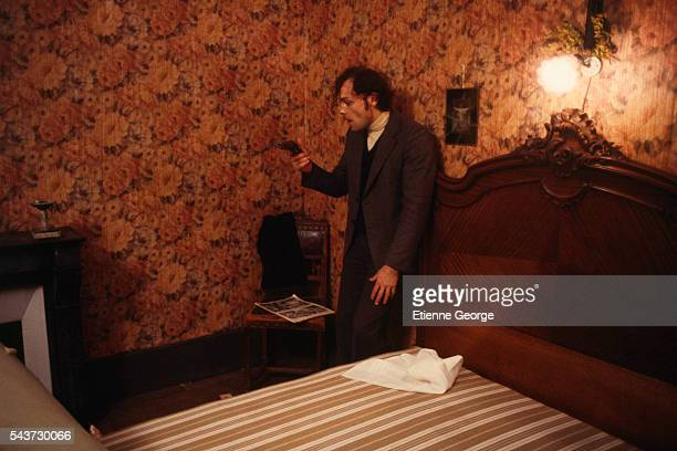 French actor Patrick Dewaere on the set of the film Serie Noire directed by Alain Corneau and based on American writer Jim Thompson's novel A Hell of...