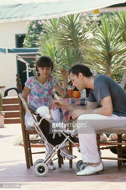 French actor Patrick Dewaere with his wife Elisabeth Malvina Chalier aka Elsa and their daughter Lola