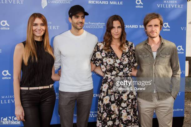 French actor Philippe Lacheau French director Tarek Boudali Swiss actress Charlotte Gabris and French actress Nadege dabrowski attend the 10th...