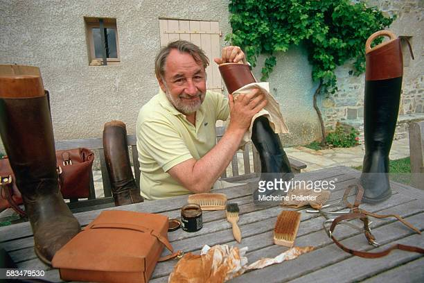 French Actor Philippe Noiret at Home