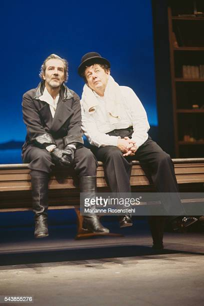 French actor Pierre Arditi in the play Maitre Puntilla et Son Valet Matti written by German playwright Bertolt Brecht and directed by French actor...
