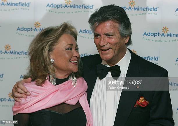 French actor Pierre Brice and his wife Hella arrive at the 'AdoptAMinefield' Benefit Gala in support of landmines victims on May 28 2005 in Neuss...