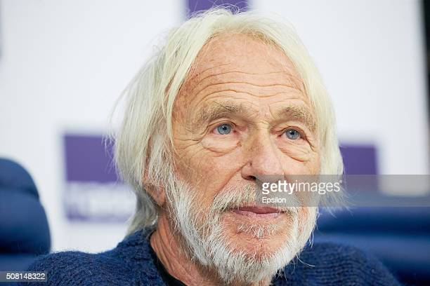 French actor Pierre Richard attends a news conference at the TASS News Agency on February 3 2016 in Moscow Russia