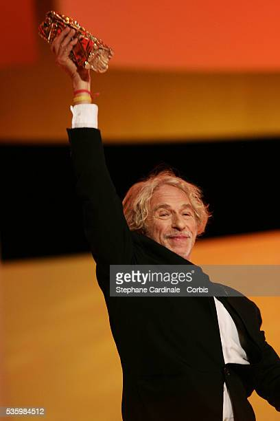 French actor Pierre Richard during his acceptance speech after he received an Honorary Cesar award