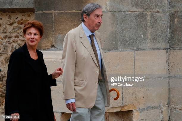 French actor Pierre Vernier arrives for the funeral ceremony for late French actor Claude Rich at the SaintPierre SaintPaul church in Orgeval...