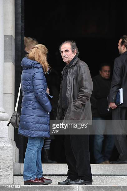 French actor Richard Bohringer is pictured after the funeral ceremony of French film director producer and screenwriter Claude Miller at Le Pere...