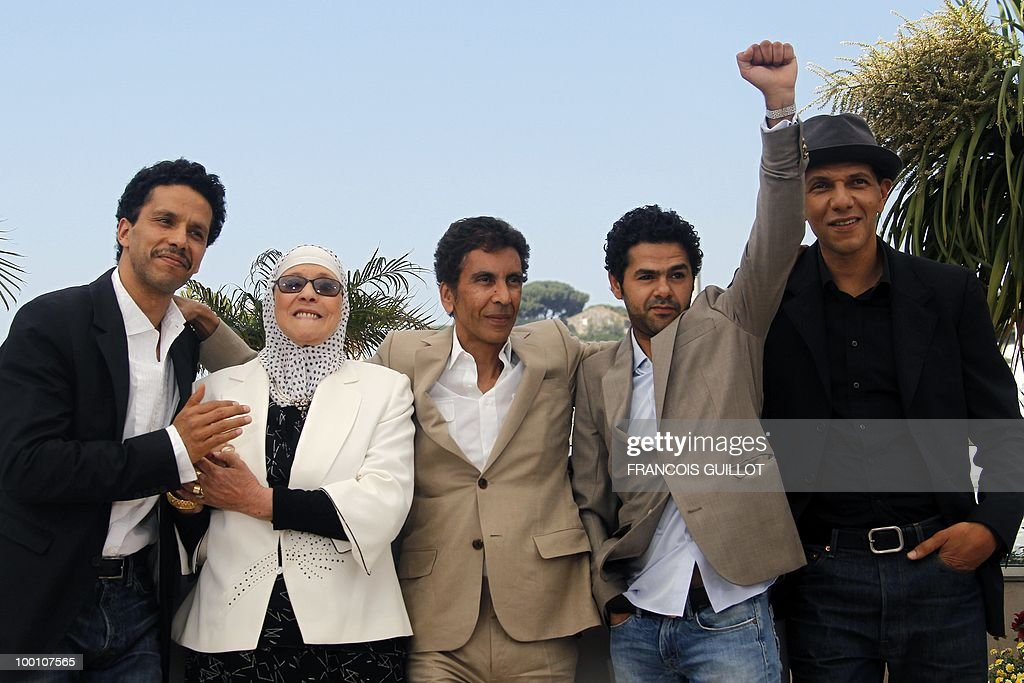 French actor Sami Bouajila, actress Chafia Boudraa, French director Rachid Bouchareb, French actor Jamel Debbouze and French actor Roschdy Zem during the photocall of 'Hors La Loi' (Outside of the Law) presented in competition at the 63rd Cannes Film Festival on May 21, 2010 in Cannes.