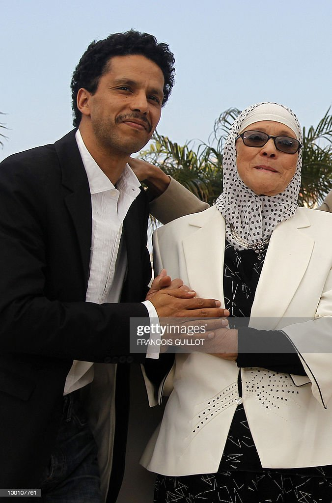 French actor Sami Bouajila and actress Chafia Boudraa pose during the photocall of 'Hors La Loi' (Outside of the Law) presented in competition at the 63rd Cannes Film Festival on May 21, 2010 in Cannes.