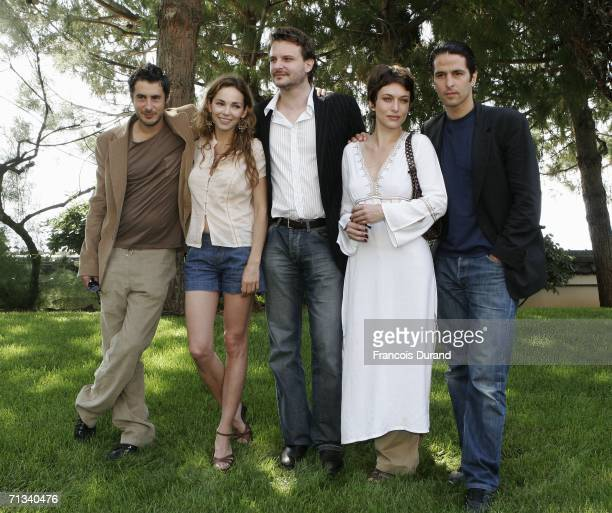 French actor Stephane GuerrinTillie Claire Keim Yannis Baraban Natacha Lindinger and Boris Terral attend the photocall for Le Maitre du Zodiaque...