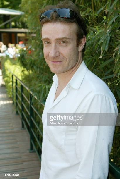 French actor Thierry Fremont arrives at the 'Village' the VIP quarter of the French Tennis Open at Roland Garros arena in Paris France on June 8 2006