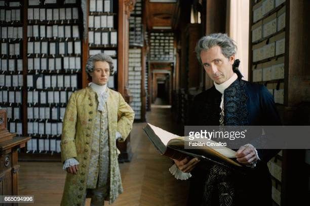 French actor Thierry Lhermitte and Italian actor Stefano Accorsi star in TV film 'Le jeune Casanova' directed by Giacomo Battiato