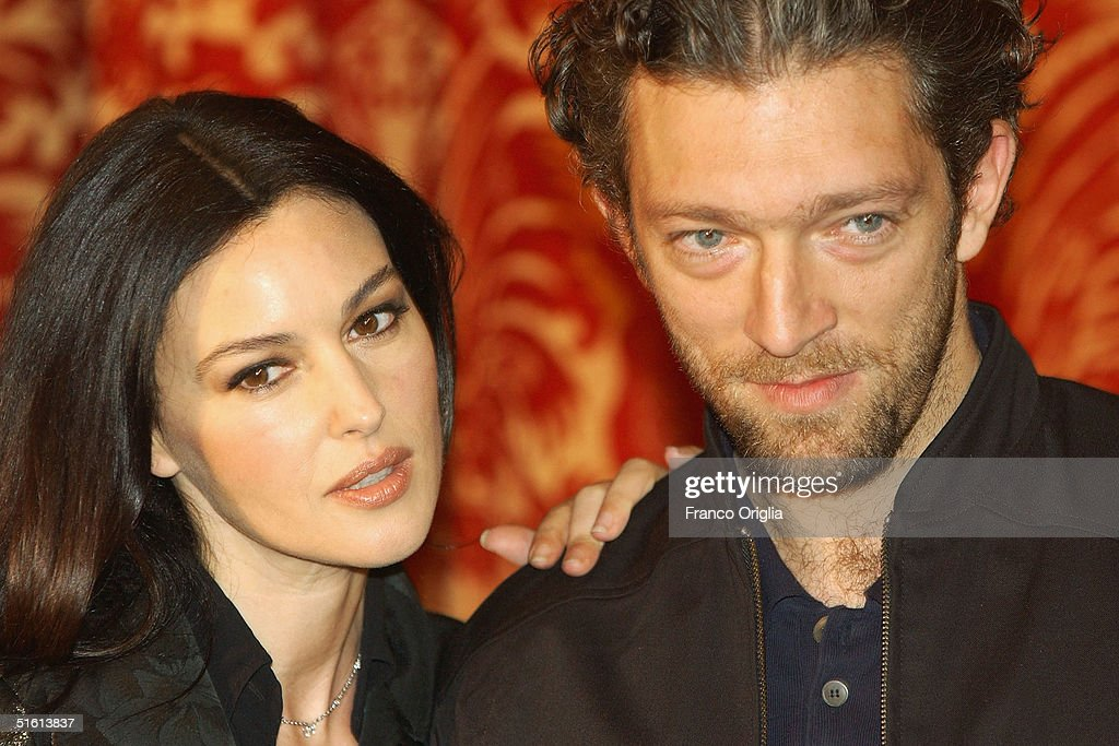 French Actor Vincent Cassel and his wife Italian actress ...