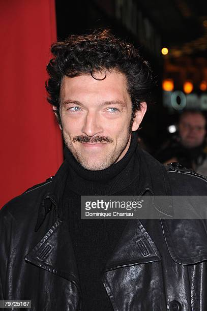 French Actor Vincent Cassel attends Asterix At The Olympic Games Paris Premiere at the Gaumont Marignan Champs Elysees on January 13 2008 in Paris...
