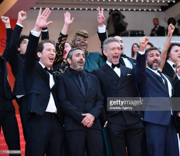 French actor Vincent Cassel French director Eric Toledano French actor Reda Kateb French director Olivier Nakache arrive for the Closing Awards...