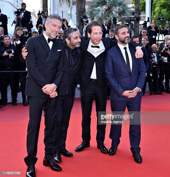 French actor Vincent Cassel French director Eric Toledano French actor Reda Kateb and French director Olivier Nakache arrive for the Closing Awards...
