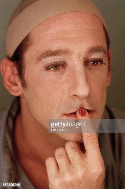 French actor Vincent Lindon on the set of L'Ecole de la Chair based on the novel by Yukio Mishima and directed by Benoit Jacquot