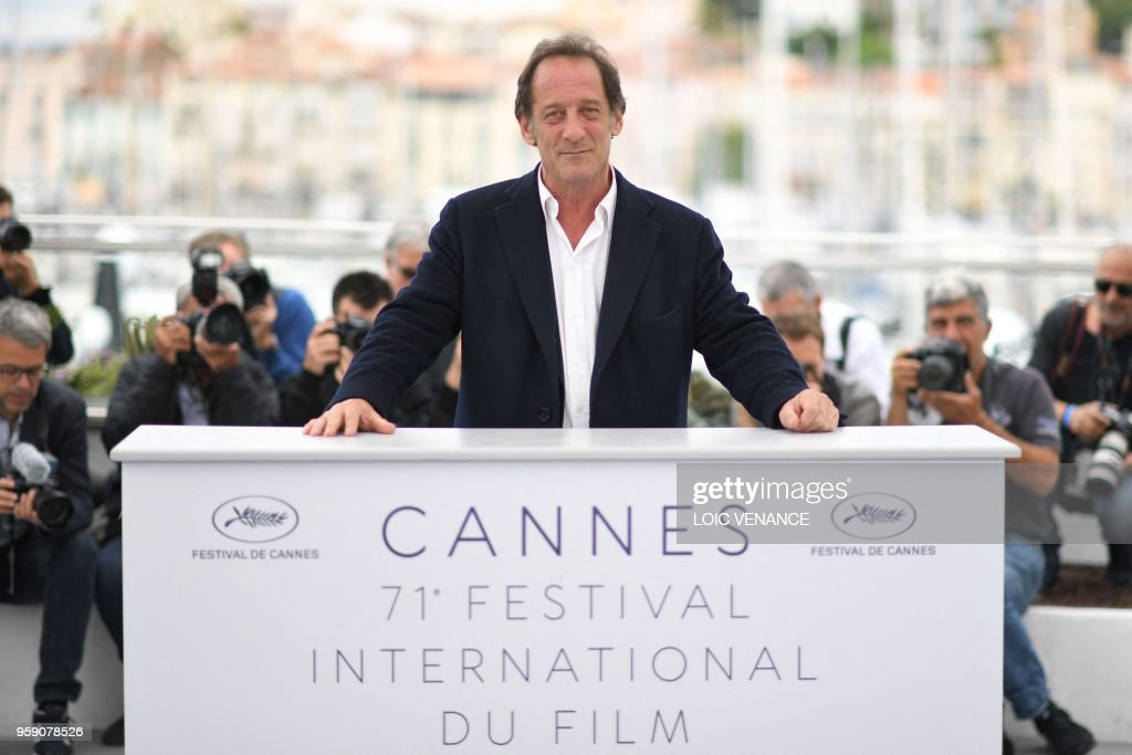 French actor Vincent Lindon poses on May 16, 2018 during a photocall for the film 'At war (En Guerre)' at the 71st edition of the Cannes Film Festival in Cannes, southern France.