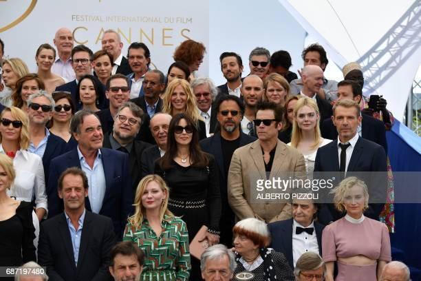 French actor Vincent Lindon US actress Kirsten Dunst French director Agnes Varda French actor JeanPierre Leaud and German actress Diane Kruger US...