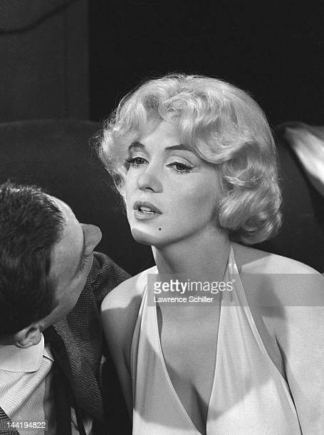 French actor Yves Montand and American actress Marilyn Monroe during the filming of their movie 'Let's Make Love' Los Angeles California April 1960