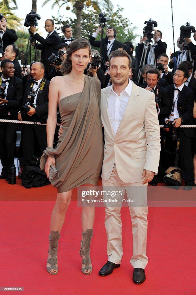 French actor/director Mathieu Kassovitz and his wife Aurore