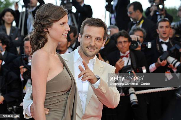French actor/director Mathieu Kassovitz and his wife Aurore Lagache at the premiere of Indiana Jones and the Kingdom of the Crystal Skull during the...