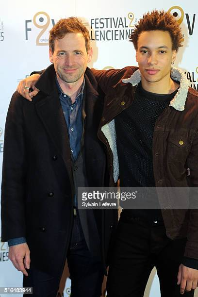 French actors Alexis Loret and Corentin Fila attend 6th Valenciennes Cinema Festival on March 18 2016 in Valenciennes France