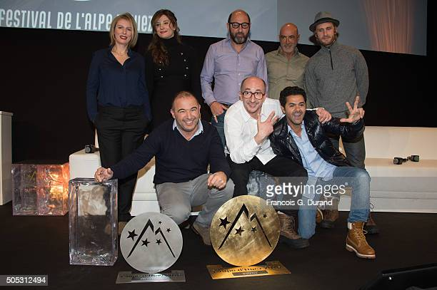 French actors and Members of Jury Karin Viard Alice Pol Kad Merad Patrick Bosso Philippe Lacheau and French director Mohamed Hamidi French actors...