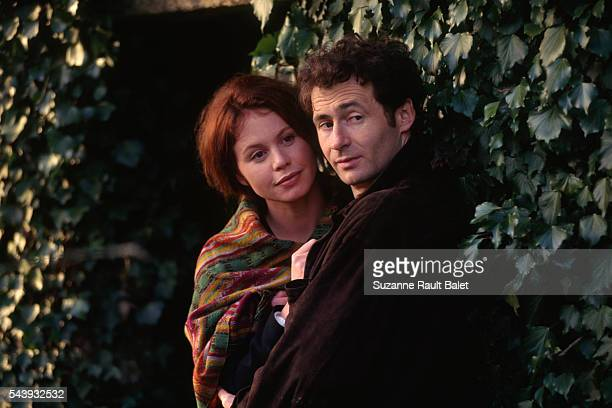 French actors and reallife couple Carole Richert and Daniel Rialet at Le Faouet in Brittany