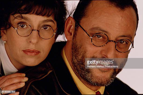 French actors Anemone and Jean Reno.
