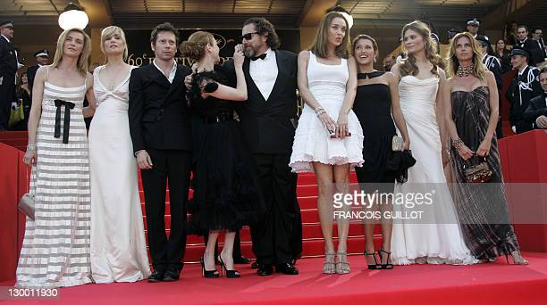 French actors Anne Consigny Emmanuelle Seigner and Mathieu Amalric Canadian actress MarieJosee Croze US director Julian Schnabel Spanish actress...