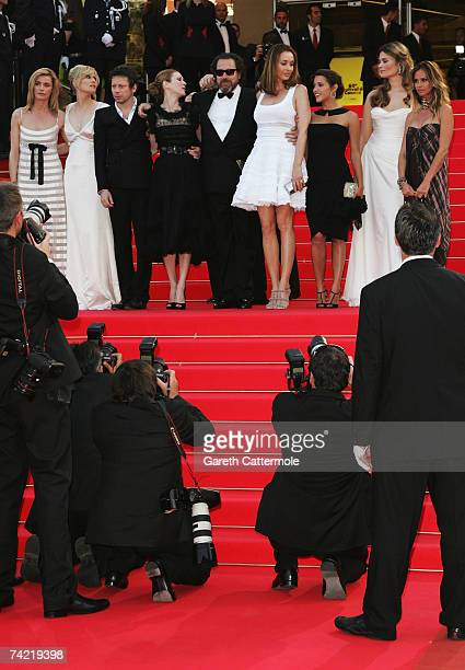 French actors Anne Consigny Emmanuelle Seigner and Mathieu Amalric Canadian actress MarieJose Croze US director Julian Schnabel Spanish actress Olatz...