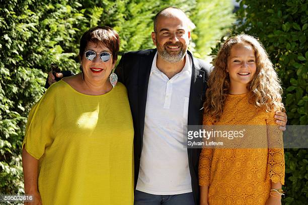 French actors Annie Gregorio , Jeanne Jestin and Marc Fitoussi attend 9th Angouleme French-Speaking Film Festival on August 24, 2016 in Angouleme,...