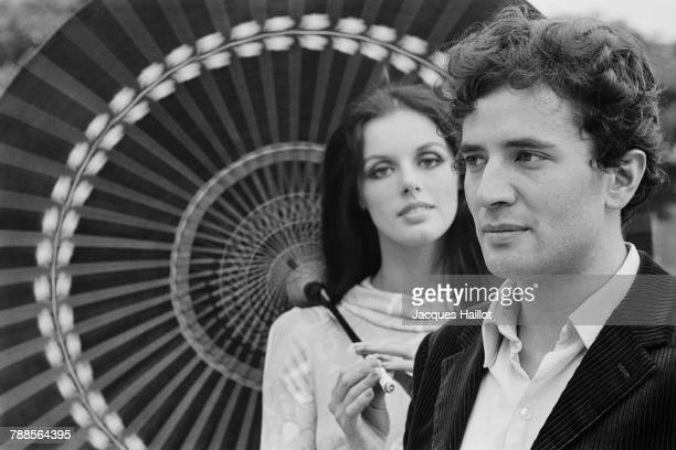 French actors Anny Duperey and Paul Barge on the set of Sous le signe de MonteCristo based on the novel by Alexandre Dumas pÌÄå¬re and directed by...
