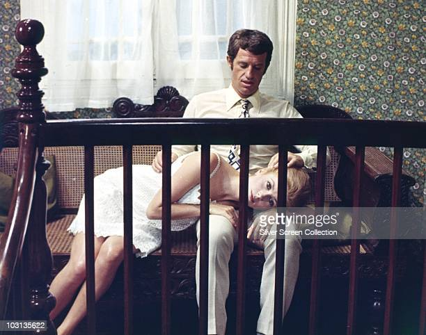 French actors Catherine Deneuve and JeanPaul Belmondo star in 'La Sirene du Mississipi' aka 'Mississippi Mermaid' 1969