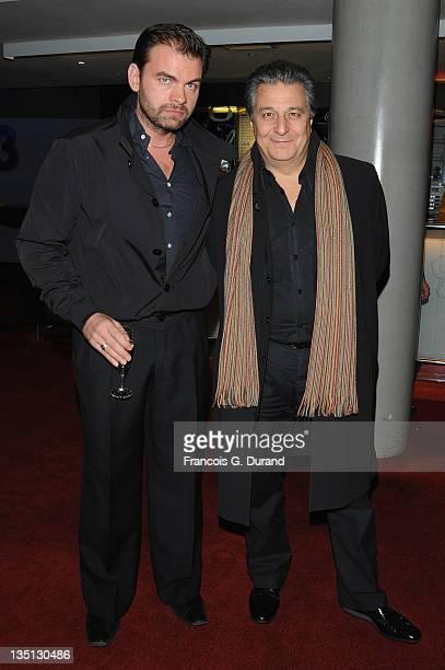 French actors Clovis Cornillac and Christian Clavier attend La Sainte Victoire Paris Premiere at UGC Cine Cite Bercy on November 30 2009 in Paris...