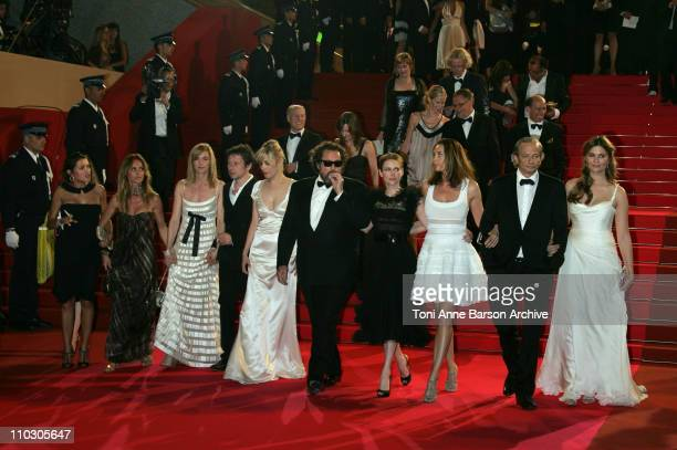 French actors Emma De Caunes Agathe de La Fontaine Anne Consigny Mathieu Amalric and Emmanuelle Seigner US director Julian Schnabel Canadian actress...