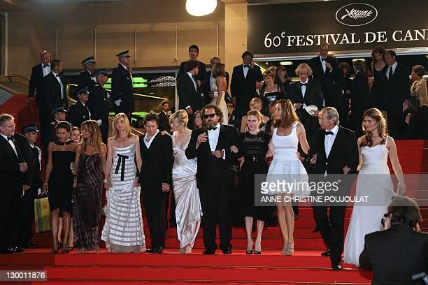French actors Emma De Caunes Agathe de La Fontaine Anne Consigny Mathieu Amalric and Emmanuelle Seigner US director Julian Schnabel Canadian actress...
