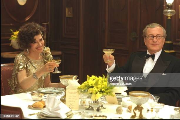 French actors Fanny Ardant and Claude Rich on the set of Désiré directed by French director Bernard Murat based on the Sacha Guitry's play by the...