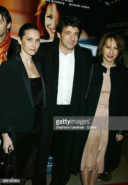 French actors Geraldine Pailhas Patrick Bruel and Nathalie Baye attend the premiere of 'Une Vie à T'Attendre'