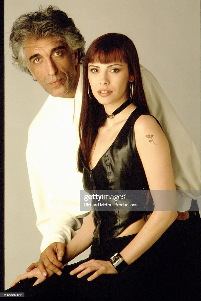 French Actors Gerard Darmon and Mathilda May : Photo d'actualité