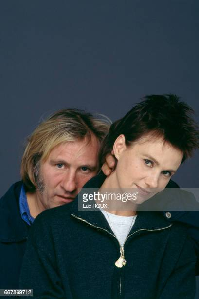 French actors Gerard Depardieu and MiouMiou during the release of the film Germimal based on the novel by Emile Zola and directed by Claude Berri