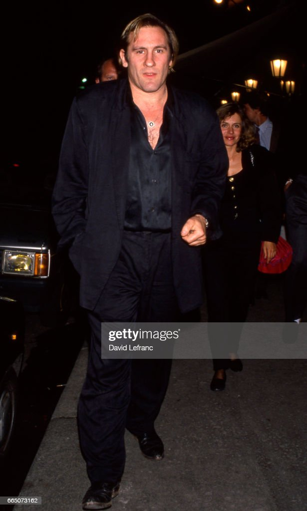 Gérard Depardieu with wife Elisabeth : News Photo